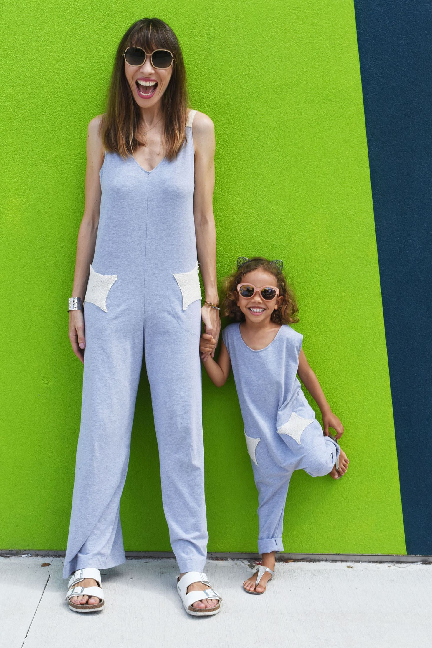 Designer Elise Granjot and Daughter in Jump Star
