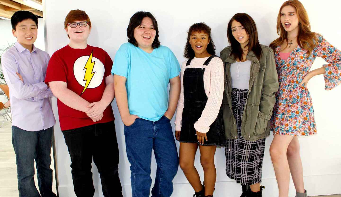 NC-16 teenage web series cast photo.